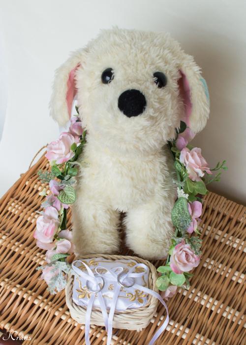 リングドッグ結婚式犬用リングピロー5