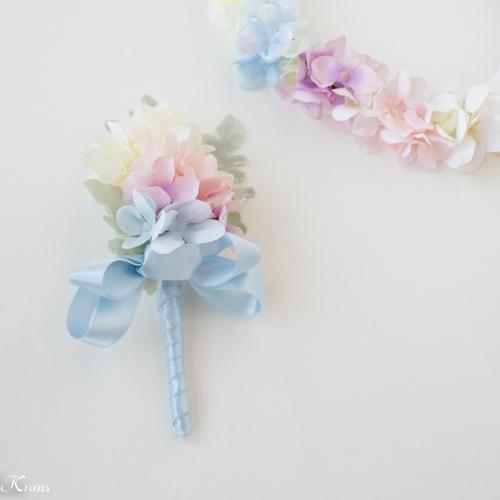 結婚式レインボーカラー虹の花冠3