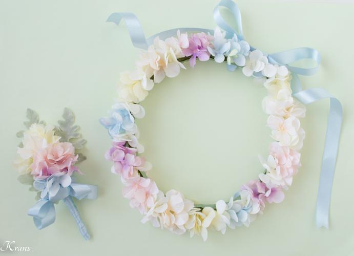 結婚式レインボーカラー虹の花冠2