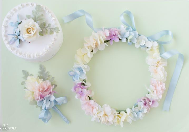 結婚式レインボーカラー虹の花冠
