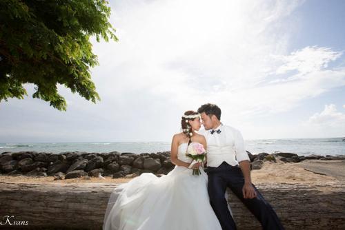 結婚式花冠ハワイおしゃれ海外ウェディング2