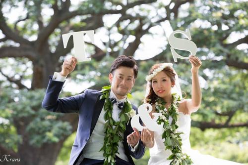 ハクレイ結婚式花冠ハワイおしゃれ海外ウェディング