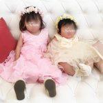 結婚式リングガールピンクイエロー子ども用花冠