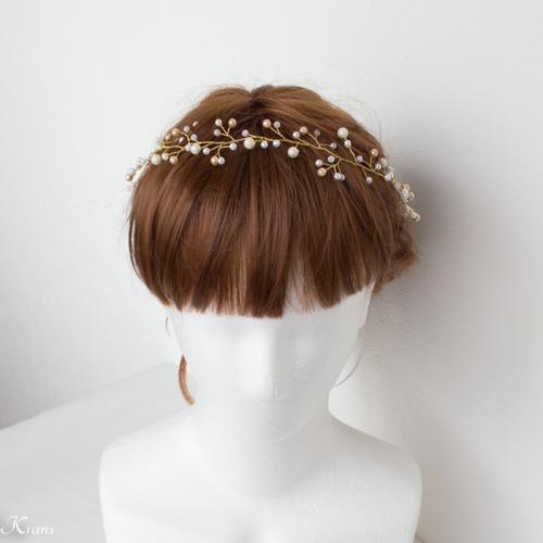 小枝ヘアアクセサリー花嫁花冠スタイル
