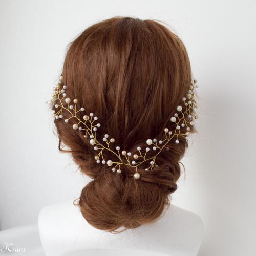 小枝ヘアアクセサリー花嫁の髪型おすすめ