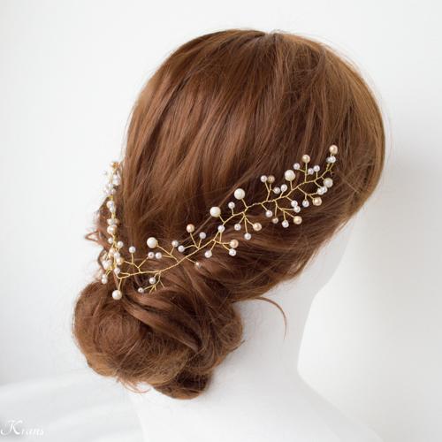 小枝ヘアアクセサリー花嫁の髪型おすすめ2
