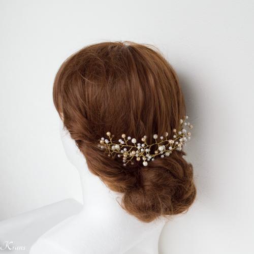 小枝アクセサリー結婚式花嫁アレンジ2