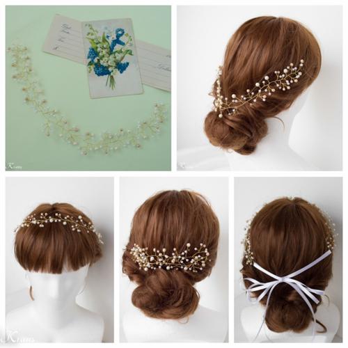 小枝髪かざり結婚式ワイヤーヘアアクセサリー