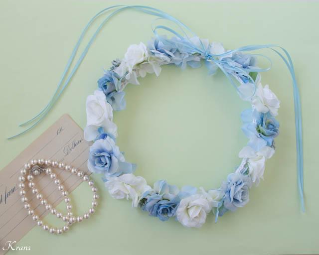 結婚式ブルー白花冠1_3