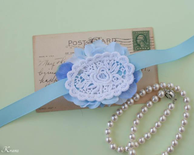 淡い青いお花を使ったリストレット5