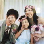 親子おそろい花冠の結婚式