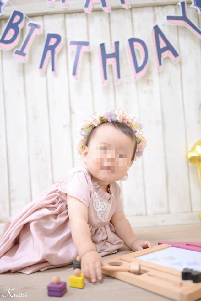 1歳のお誕生日花冠1
