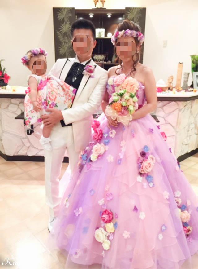 親子おそろいの結婚式花冠2
