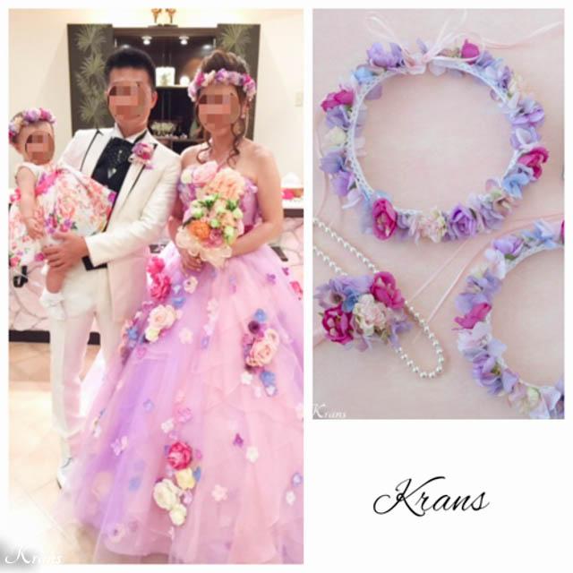 親子おそろいの結婚式花冠3