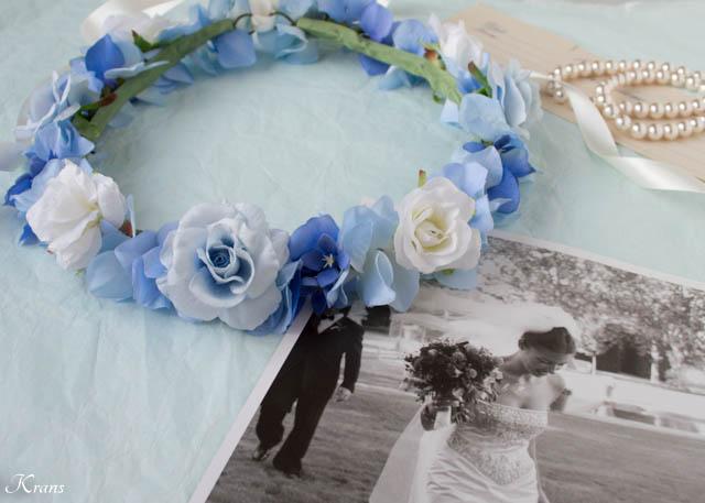 結婚式用青い花冠4