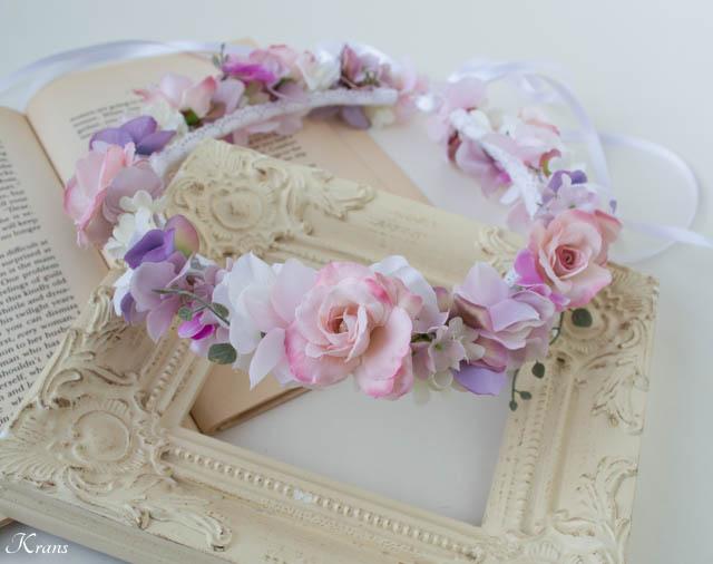 マリエルピンクの結婚式用花冠5