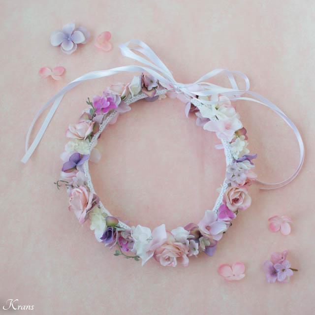 マリエルピンクの結婚式用花冠6