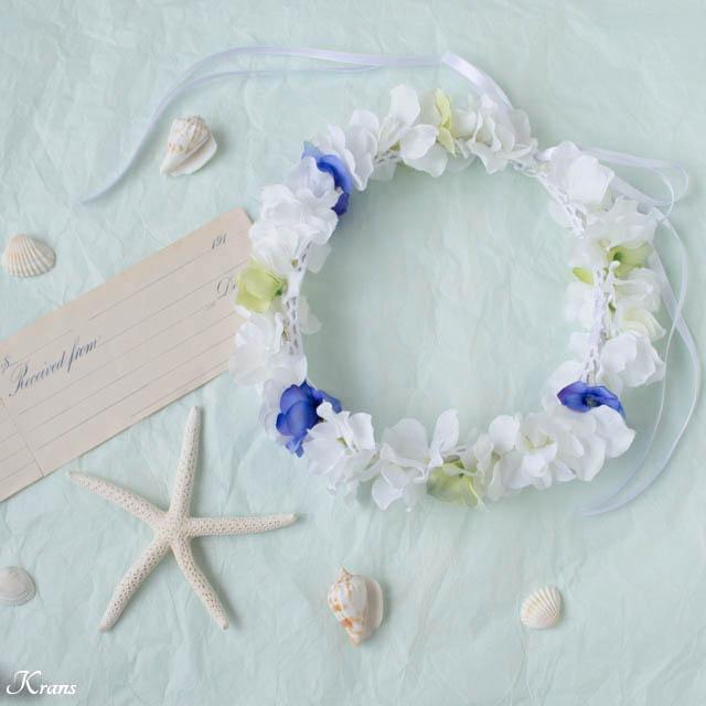 【花冠のご紹介】ビーチ撮影におすすめのウェディング花かんむり