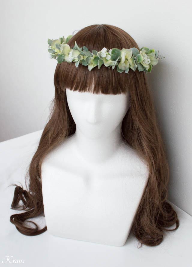 ナチュラルグリーン花冠ウェディング3