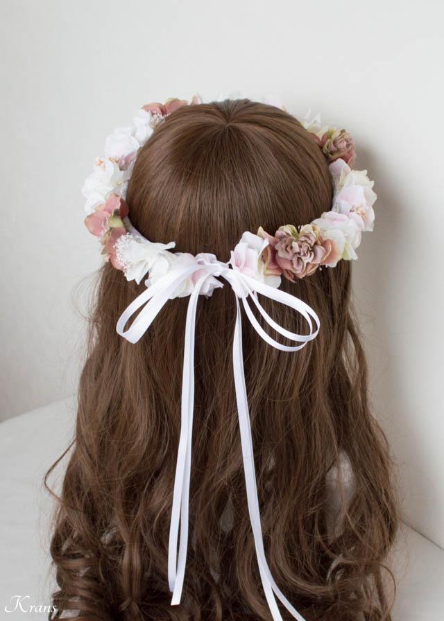 おとなウェディング花冠ヘアスタイル
