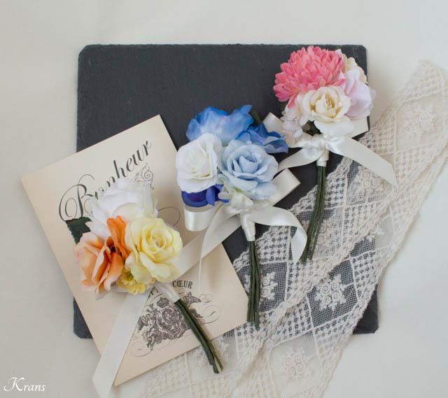 結婚式両親贈呈品お父さんへのブートニア