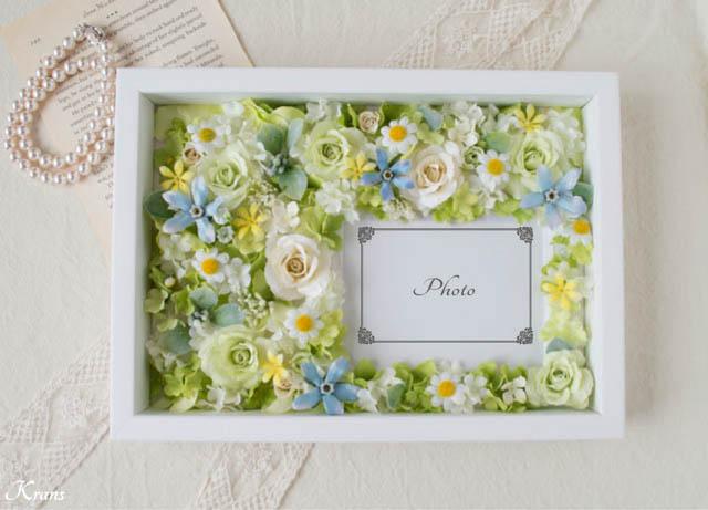結婚式両親贈呈品フラワーフォトフレーム1