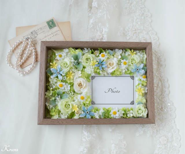 結婚式両親贈呈品フラワーフォトフレーム3