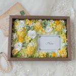 結婚式両親贈呈品フォトフレーム黄色