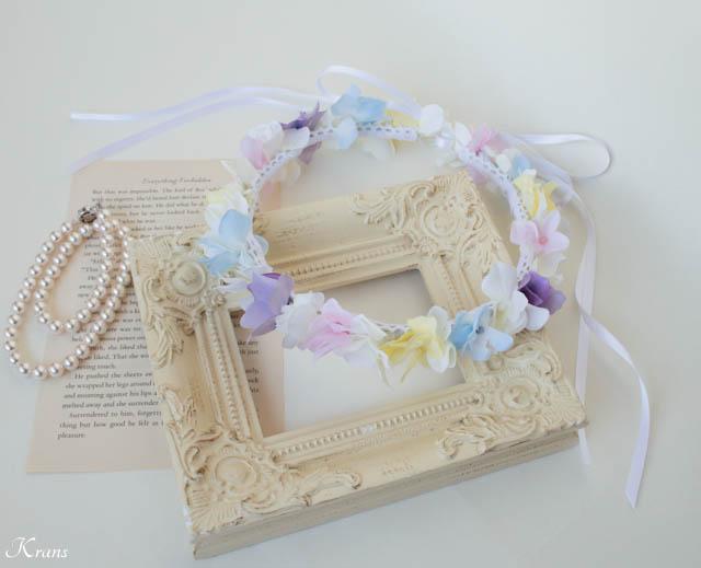 パステルカラー虹色花冠結婚式2