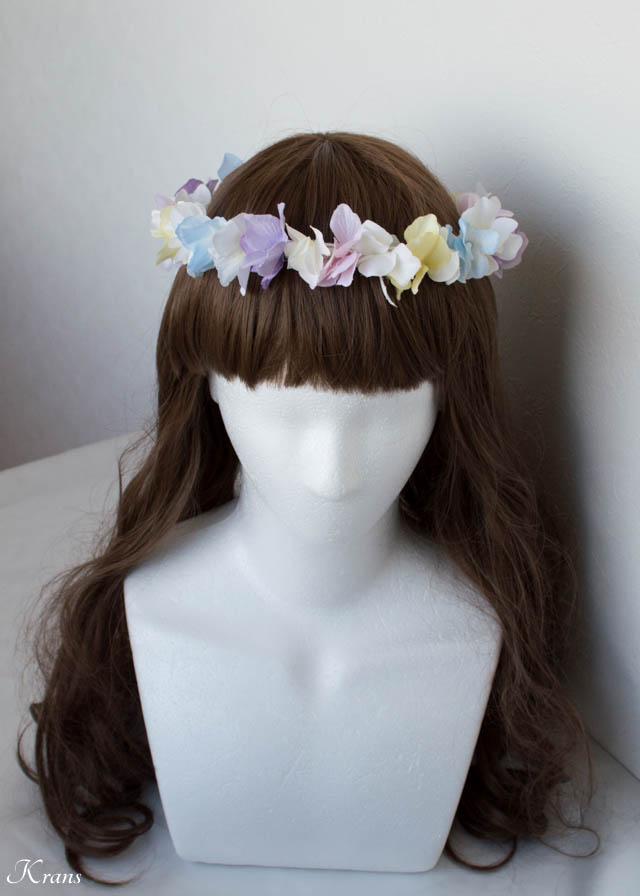 パステルカラー虹色花冠結婚式5