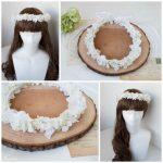結婚式可憐な白い花冠1