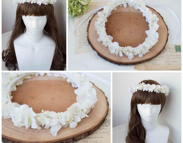 可憐な白い花冠
