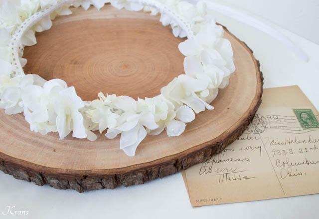 結婚式細身白い花冠2