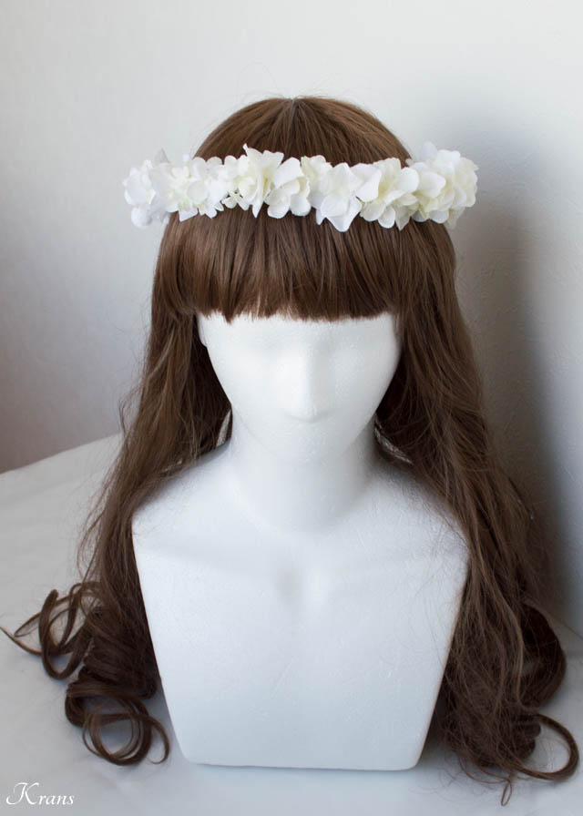 結婚式細身白い花冠3