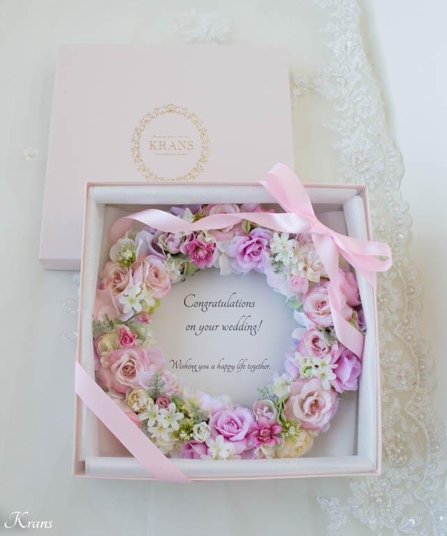 結婚祝いプレゼントフラワーリース3