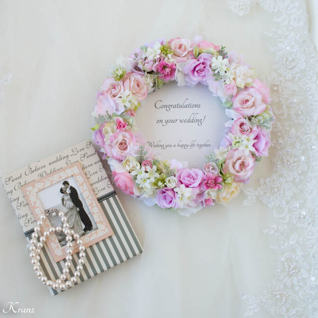 結婚祝いプレゼントフラワーリース