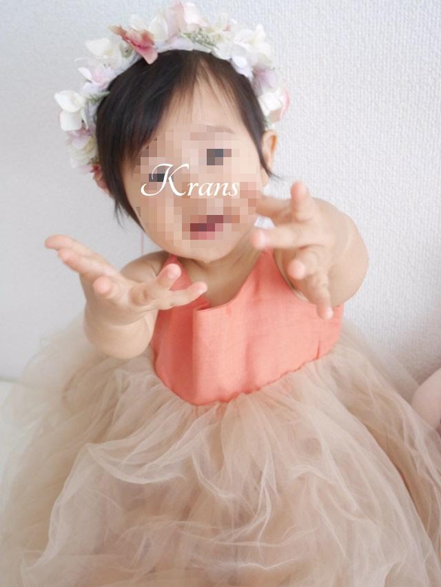 1歳のお誕生日花冠2
