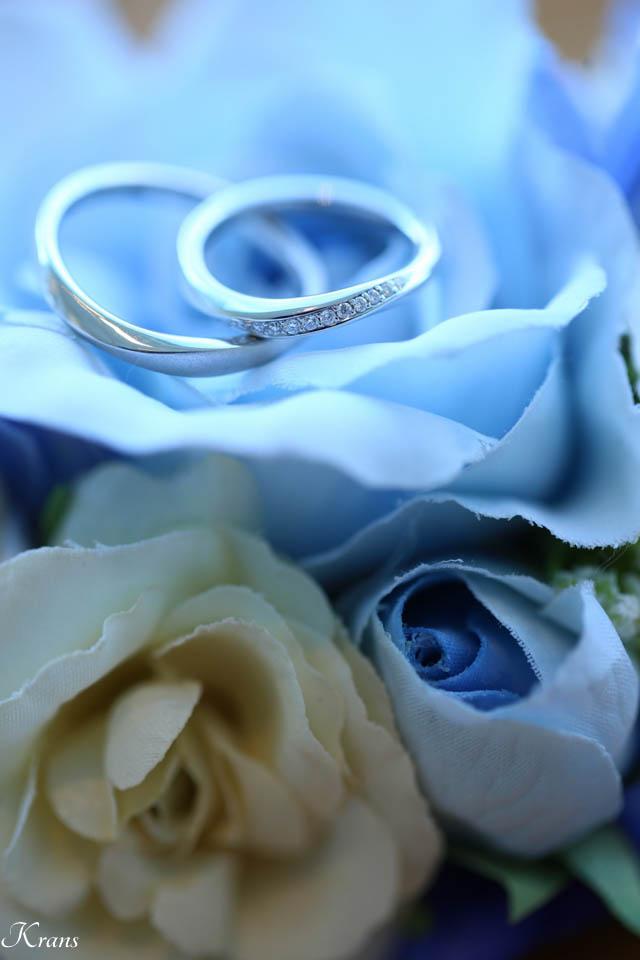 リングドッグで届けられた結婚指輪