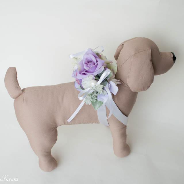 淡い紫リングピロー犬5
