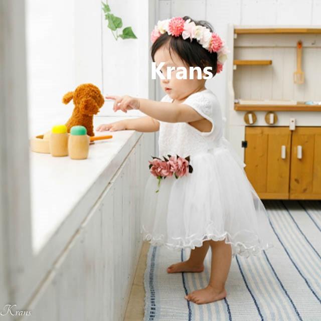 1歳女の子誕生日花冠