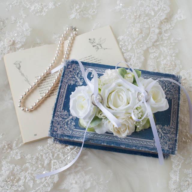 リングドッグ白いバラ1