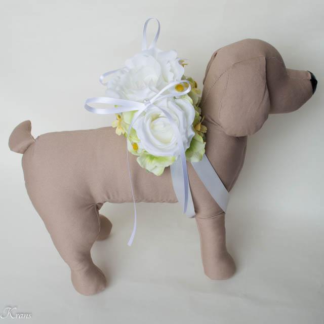 白いバラリングピロー犬用5