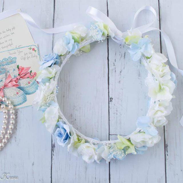 ファーストバースデー青い花冠