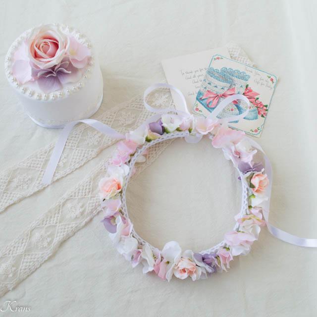 女の子誕生日プレゼントにおすすめピンクの花かんむり