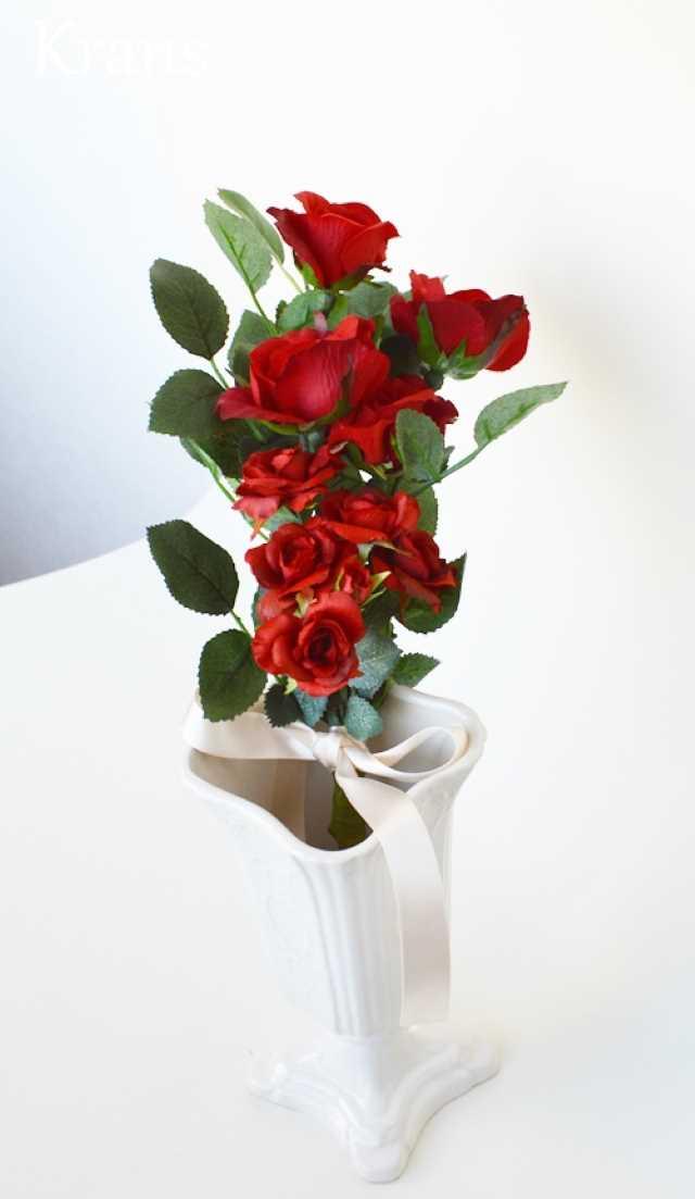 赤いバラのブーケ