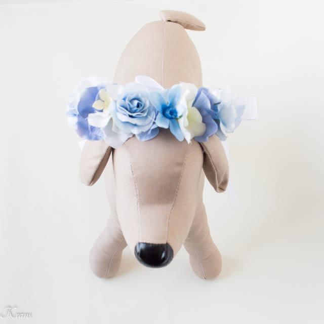 犬の花冠撮影結婚式