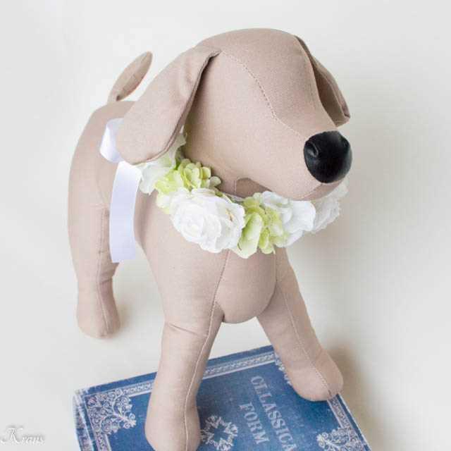 犬用花首飾りウェディング