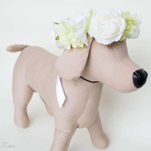 犬の花かんむり通販