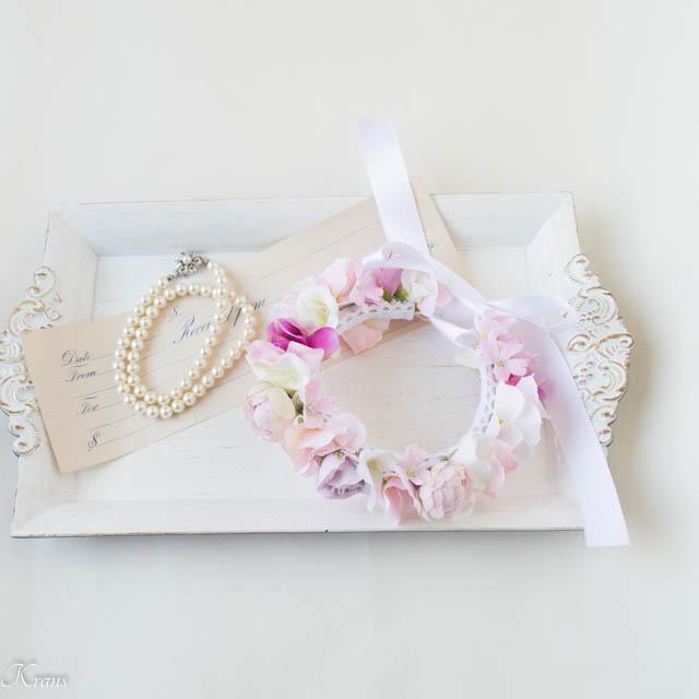 ピンク犬用ペット花冠通販
