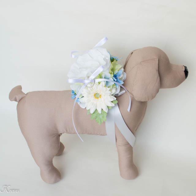 犬結婚式指輪リングピロー
